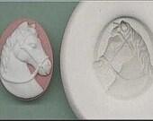Horse Head Cameo 414 Handmade Polymer Clay Mold