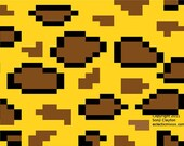 Knit Crochet & Cross Stitch Graph Pattern 'Stylised Leopard Print' Accessories Clothing Home  (pdf)