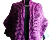 Knitting Pattern Cape Shawl Wrap Medium & Large