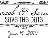 Vintage Save the Date Stamp