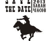 Cowgirl Save the Date