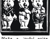 Three pigs - rubber stamp