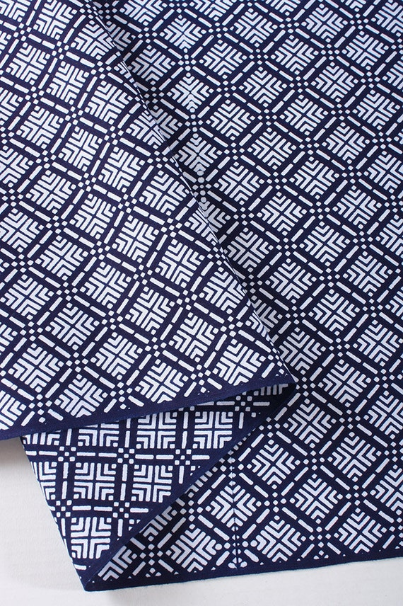 Vintage Japanese cotton fabric for yukata