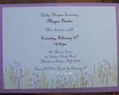 lavendar fields baby shower invitation