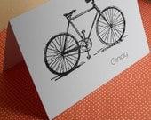 Bike personalized folded note set
