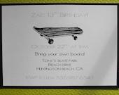 Skater birthday invitation boy or girl