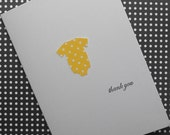 Mod style baby onsie thank you card