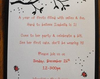 LOVELY LADYBUG invitation