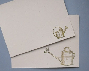 Watering can flat notecard set