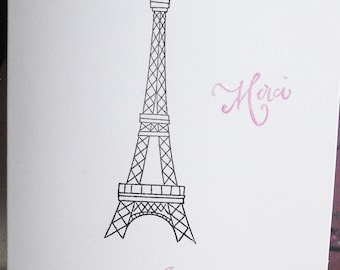 French inspired personalized notecards