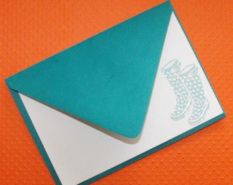 Rain boot notecard set