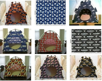 Large Handmade Football Sport Teams Pup Tent Pet Bed for cats/dogs/ferrets/piggies/A Toy Box / Barbie Doll House