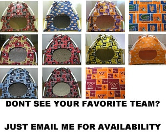 Large Handmade College Sport Teams Pup Tent Pet Bed for cats/ dogs/ferrets/ piggies/ A Toy Box / Barbie Doll House