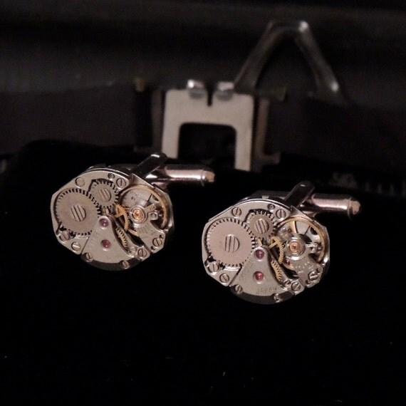 Steampunk Cufflinks (17 Jewel)
