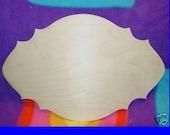 UNFINISHED Wood Plaque Shape LARGE 17.5'' x 29.5''