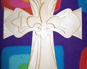 Unfinished Wood Layered STACK CROSSES KIT style 62 - 15''