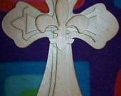 UNFINISHED Wood LAYERED Stack CROSSES Kit style 36a - 15''