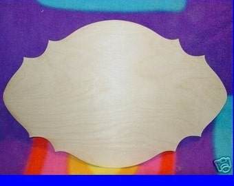 UNFINISHED Wood Plaque Shape LARGE 9'' x 14''