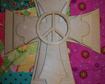 UNFINISHED Wood Layered Stack Crosses Kit style 456 - 15''
