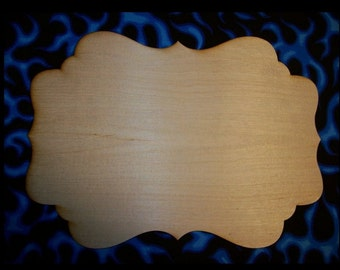 Unfinished wood wooden plaque style P03 - available in 8 different sizes