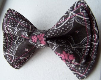 Boys Bow Tie - Black White and Pink Bow Tie - Bow Tie - Bowtie - Toddler Bow Tie - Mens Bow Tie - Newborn Bow Tie -  Floral Bow Tie