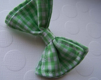 Lime Green Gingham Bow Tie - Bow Tie - Bowtie - Toddler Bow Tie - Newborn Bow Tie - Mens Bow Tie - Boys Bow Tie - Baby Bow Tie - Green Tie