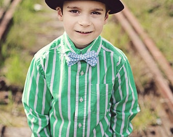 Boys Bow Tie - Blue and White Honeycomb Bow Tie - Bow Tie - Bow Ties Toddler - Newborn Bow Tie - Bowtie - Blue Bow Tie - White Bow Tie