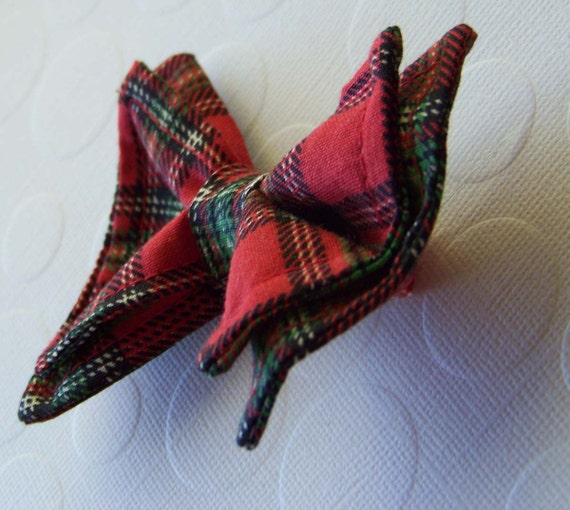 Red Plaid Bow Tie- Newborn to 5t