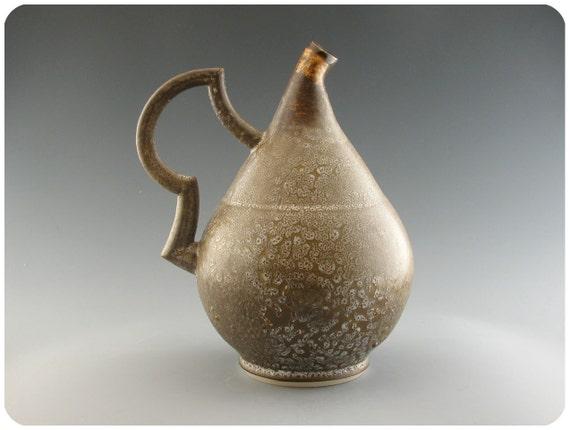 Decorative Porcelain Ewer With Crawly Glaze