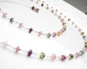 Tourmaline Necklace  Silver Wire Wrapped Jewelry