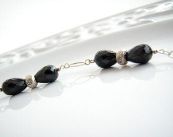 Necklace Black Spinel Sterling Silver