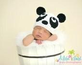 Newborn panda hat