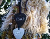 Reserved Peace Rocks Hippie Christmas Stocking