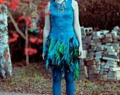 Collection: Nice bones. Turquoise silk dress