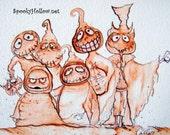 Halloween Sepia Print  by Carmen Ellis