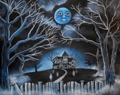 Spooky Hollow Haunted House 8 by 10 matte print