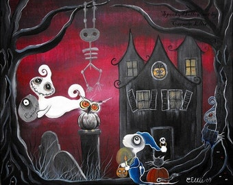 Spooky Hollow 8 by 10 print Oops I lost my Head
