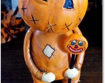 Original Halloween folk art doll Skelly Trick or Treat MADE TO ORDER