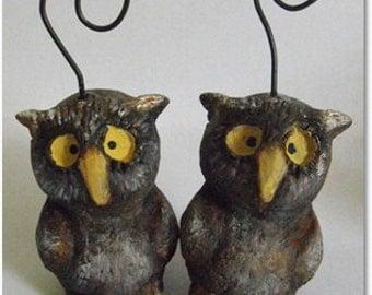 Halloween Feather Tree hoot owl ornament