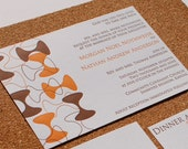 Custom Modern Letterpress Wedding Invitation Sample