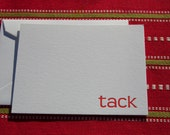"Swedish Letterpress ""tack"" (thank you) Stationery Note Set pack of 8 cards and envelopes"
