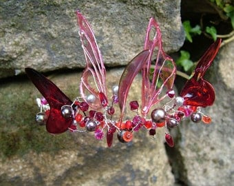Creme de Rose Fairy Wing Tiara