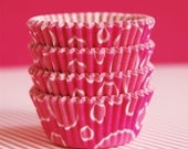 Mini Cupcake Liners 50 Pink Bubbles Baking Cups