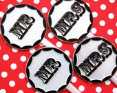 Mr. and Mrs. Wedding Cupcake Toppers (12)