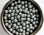 Gray Pearl Candy Beads- Edible Cupcake Decorations (2 ounces)