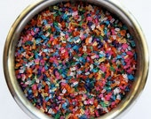 Rainbow Sugar Crystals for cupcakes or cookies(4 ounces)