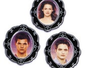 Twilight Rings Edward Jacob and Bella Rings (12) Cupcake toppers or favors