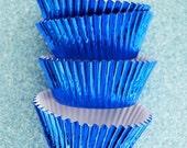 Blue Foil Cupcake Liners (50)