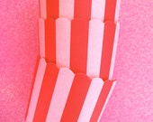 Baking Cups in Pink Stripes (25)