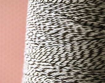 Brown and White Bakers Packaging Twine (25 yards)